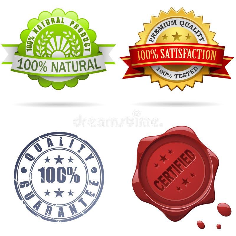 De etiketten en de verbindingen van de kwaliteit