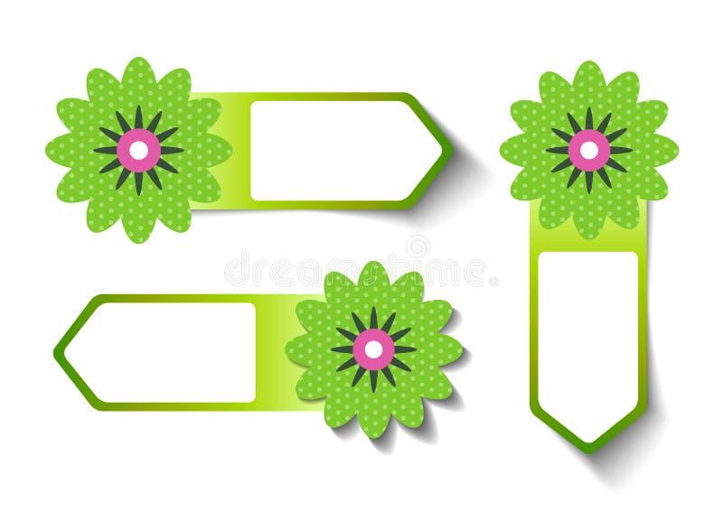 De Etiketten van de de lenteverkoop vector illustratie