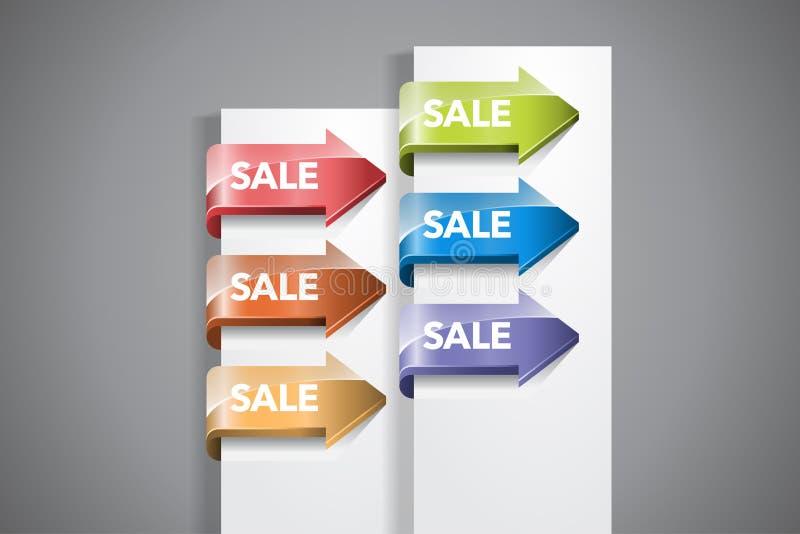 De Etiketten van de verkooppijl royalty-vrije illustratie