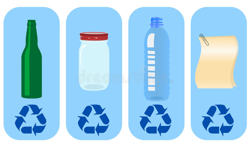 De etiketten van Eco vector illustratie