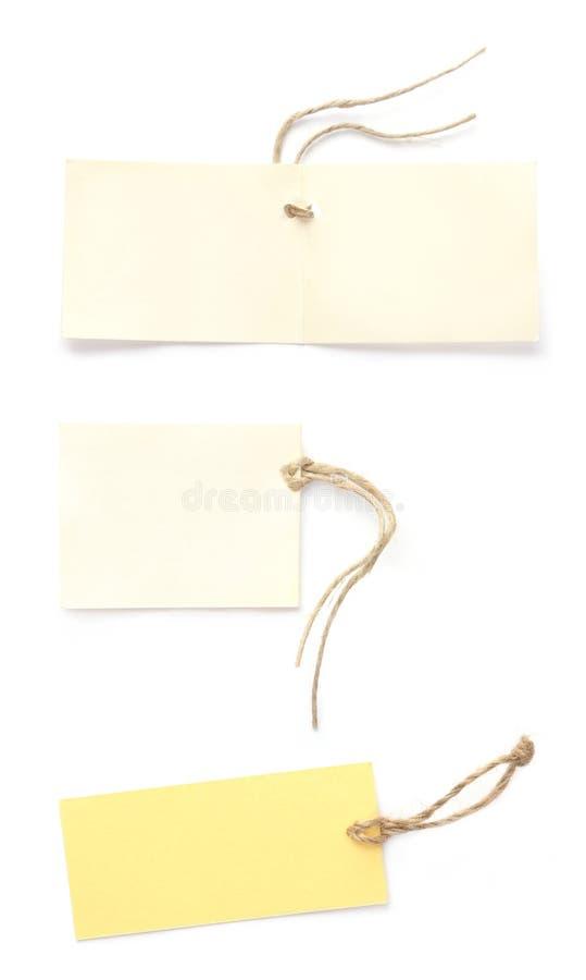 De etiketten van het document stock foto