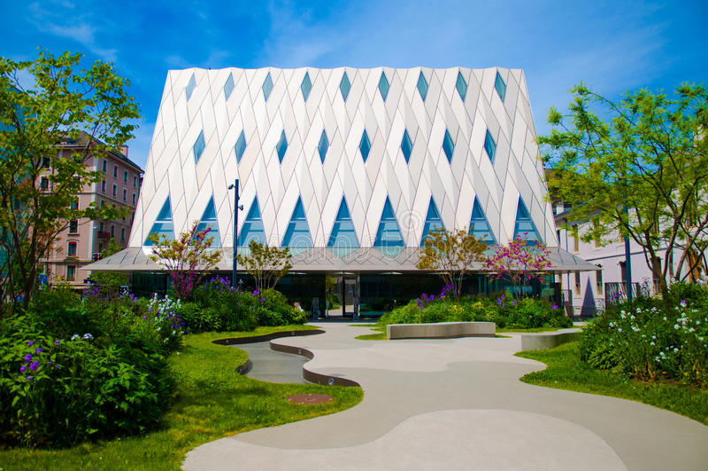 De Etnografiemuseum MEG, Genève, Zwitserland van Genève stock afbeelding