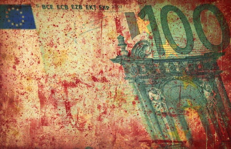 De EU-Euro - de financiële achtergrond van Grunge royalty-vrije stock afbeelding