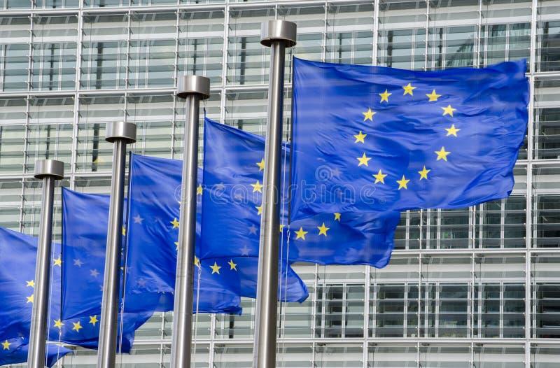 De EU-vlaggen royalty-vrije stock afbeeldingen