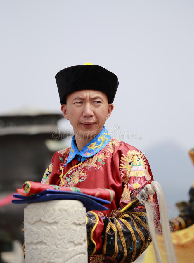 De eunuch van de Qingsdynastie stock foto's