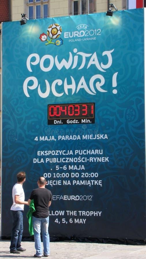 De EURO 2012 volgt de Reis van de Trofee: Wroclaw, POL. royalty-vrije stock foto
