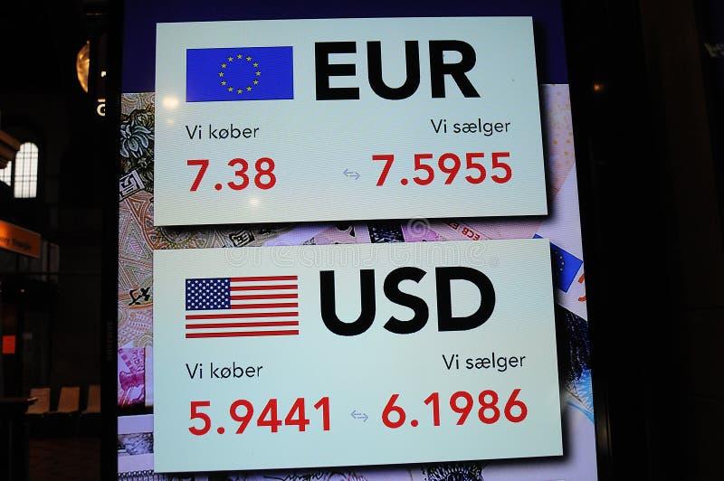 DE EURO AMERIKAANSE DOLLARS VAN VER stock foto