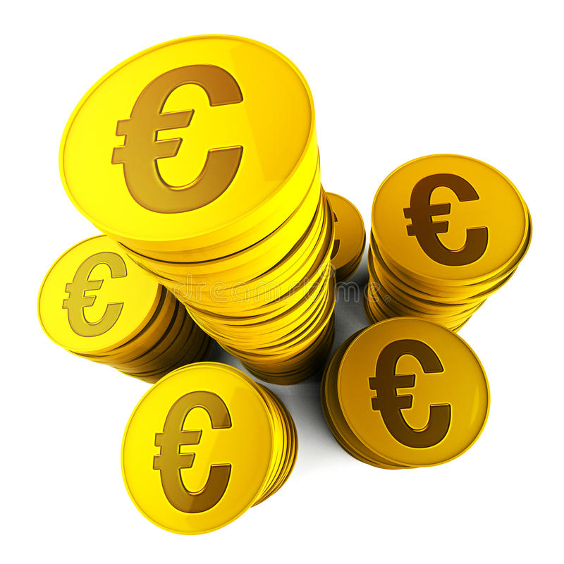 De euro Besparingen toont Euros Saved And European vector illustratie