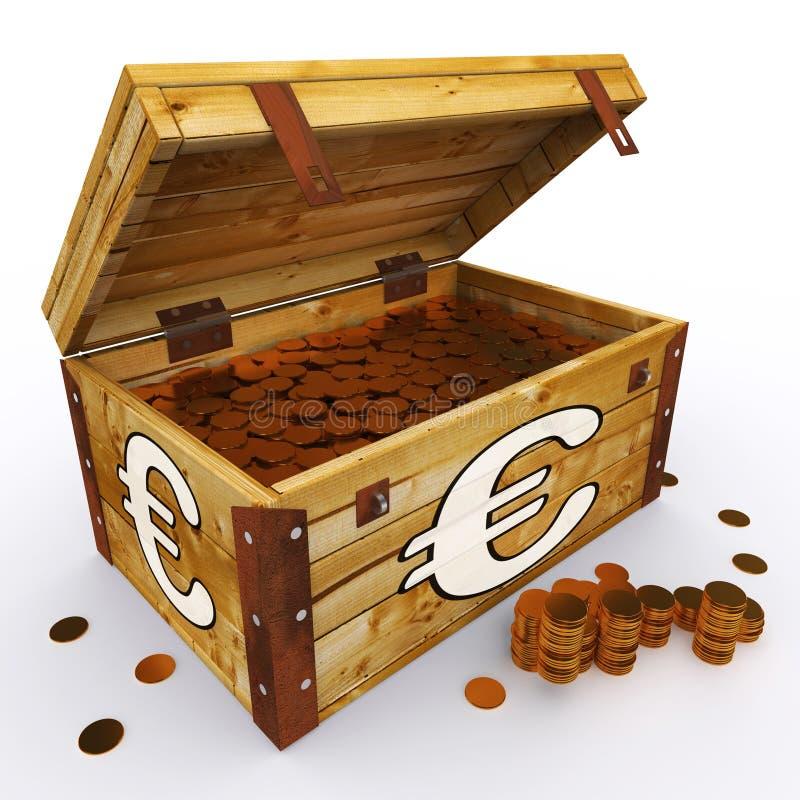 De euro Borst van Muntstukken toont Europese Welvaart royalty-vrije illustratie