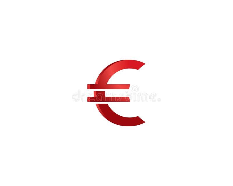 De euro illustratie van het geldsymbool vector illustratie