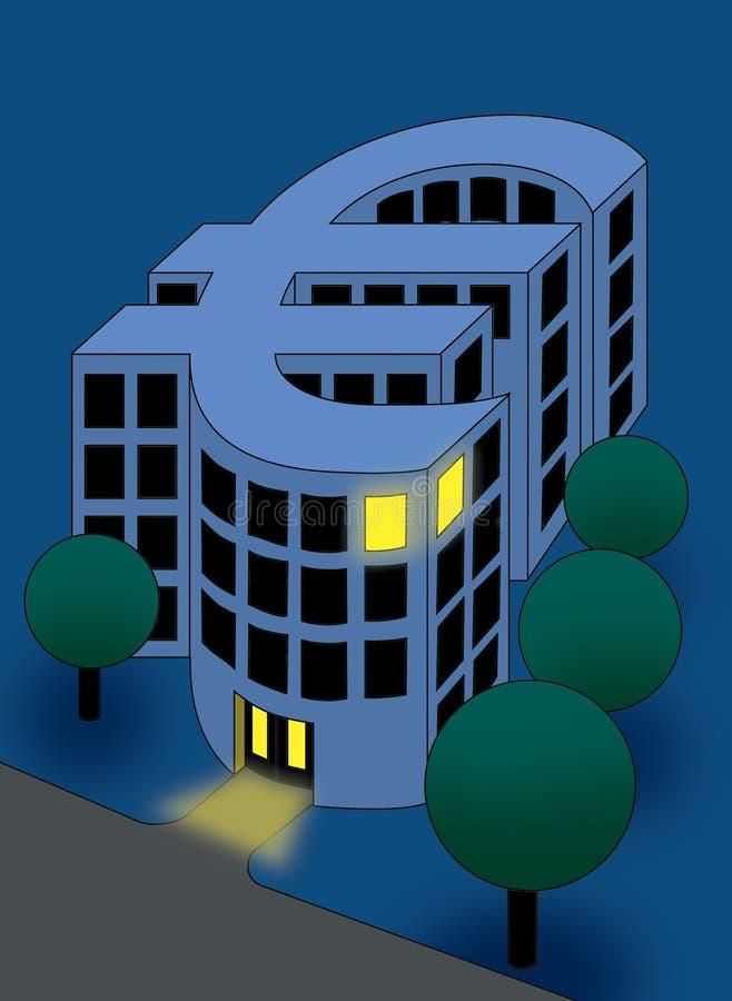 De euro muntbouw stock fotografie