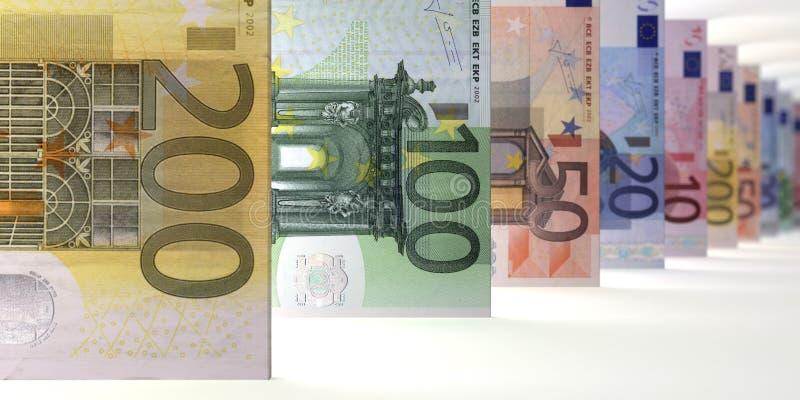 De euro nadruk van de Nota'sserie vector illustratie
