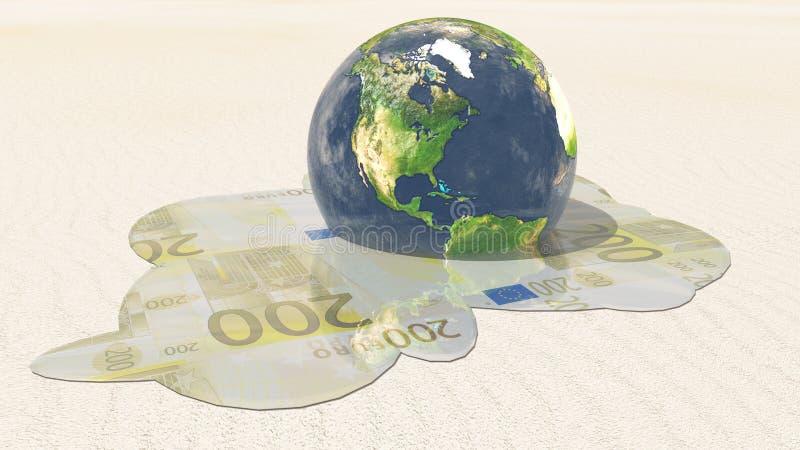 De Euro Smelting van Amerika royalty-vrije illustratie