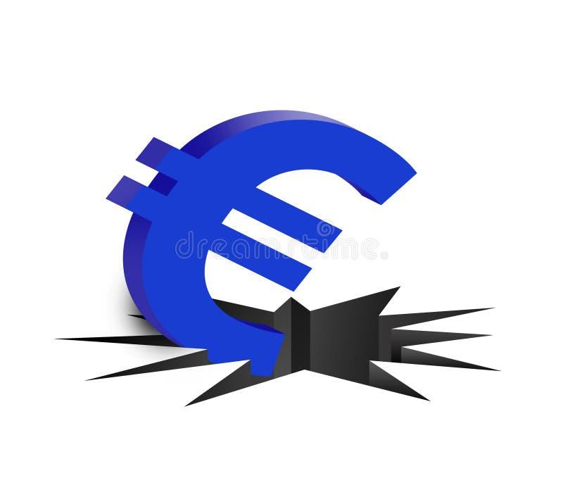 De euro van de daling stock illustratie