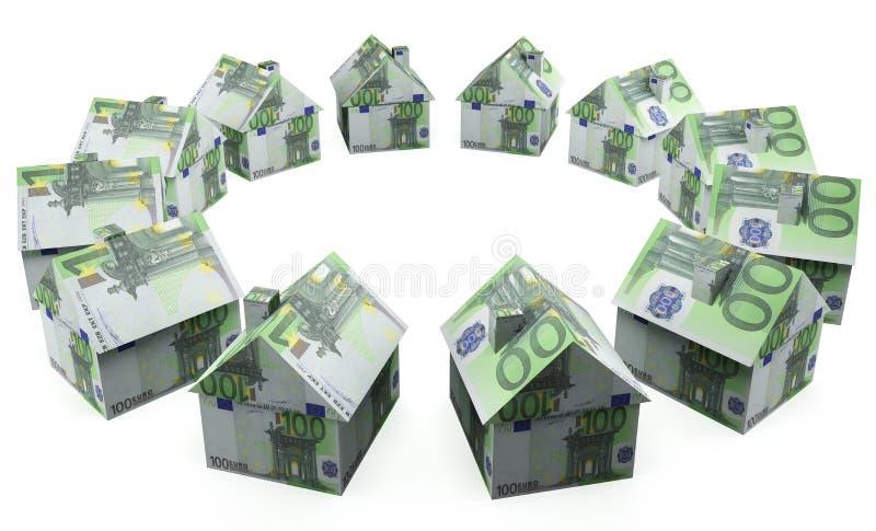 De euro van het geldhuis royalty-vrije stock foto's