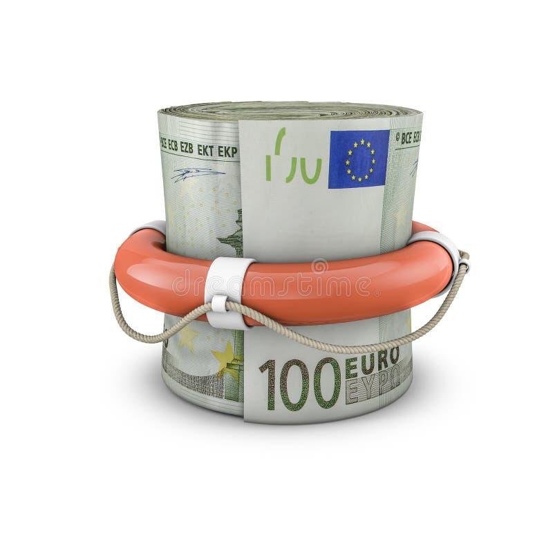 De euro van het het geldbroodje van de het levensring stock illustratie