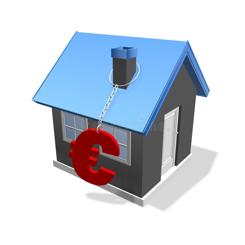 De euro van het huis stock afbeeldingen