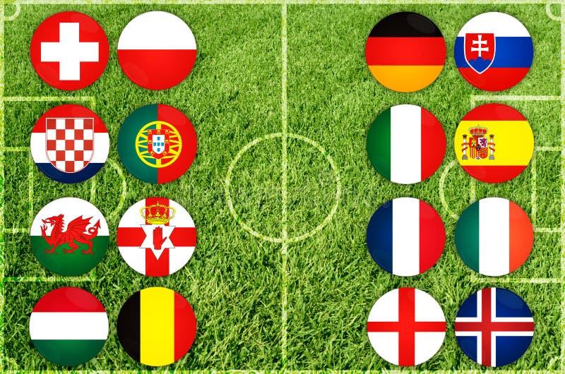 De euro vlaggen van het land stock foto