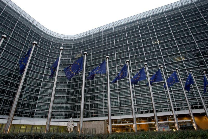 De Europese Commissie in Brussel stock afbeeldingen