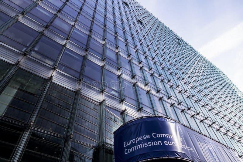 De Europese Commissie de Europese Unie Brussel van Europa royalty-vrije stock foto