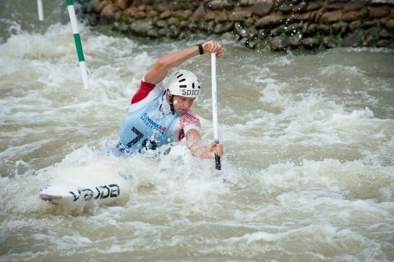 De Europese Kampioenschappen van de Slalom van de Kano, Cunovo (SVK) royalty-vrije stock afbeelding
