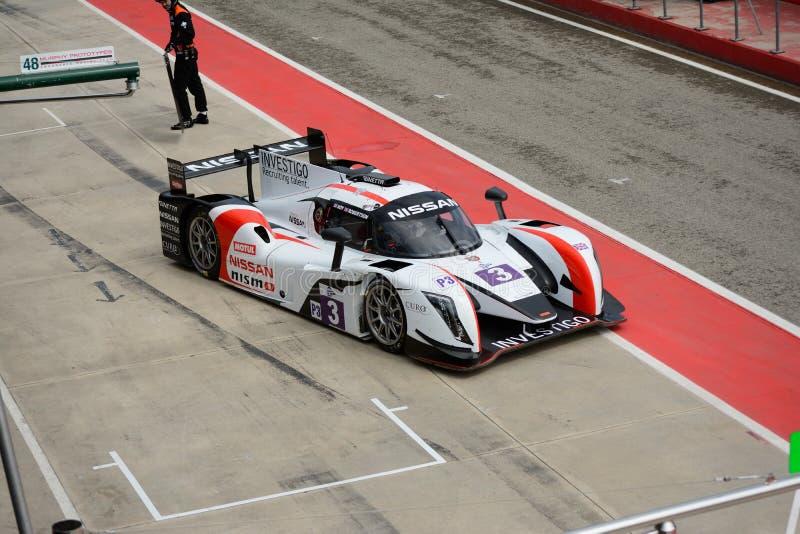 De Europese Reeks van Le Mans Ginetta - Nissan in Imola stock afbeeldingen