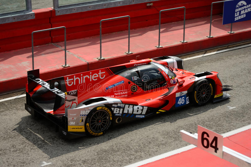 De Europese Reeks van Le Mans Oreca - Nissan, winnaar in Imola stock fotografie