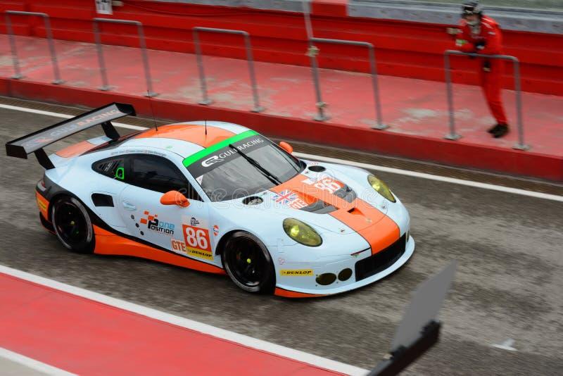 De Europese Reeks van Le Mans Porsche 911 RSR GT3 in Imola 2015 stock foto's
