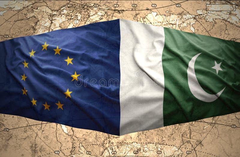De Europese Unie van Pakistan en stock illustratie