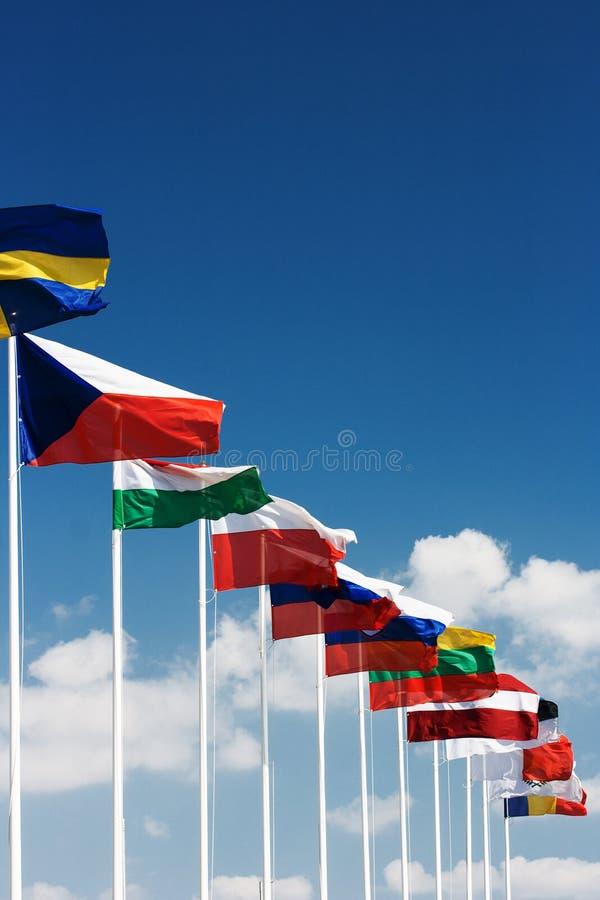 De Europese vlaggen van het land stock fotografie