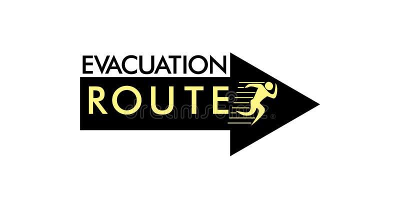De evacuatie stelt de decoratievector in werking van pijlmensen vector illustratie