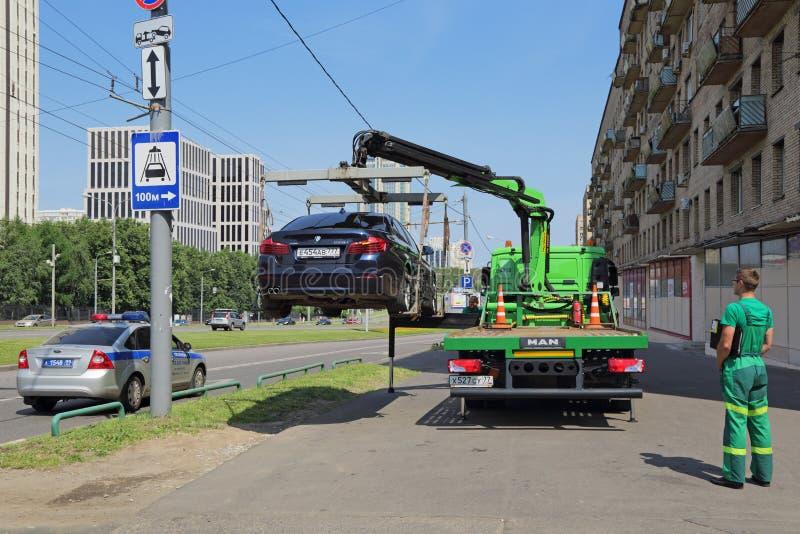 De evacuatie van de auto stock afbeelding