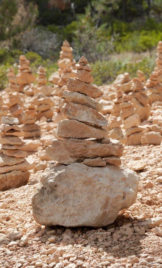 De In evenwicht brengende Stenen van Bryce Canyon Hoodoos Zen Garden stock afbeeldingen