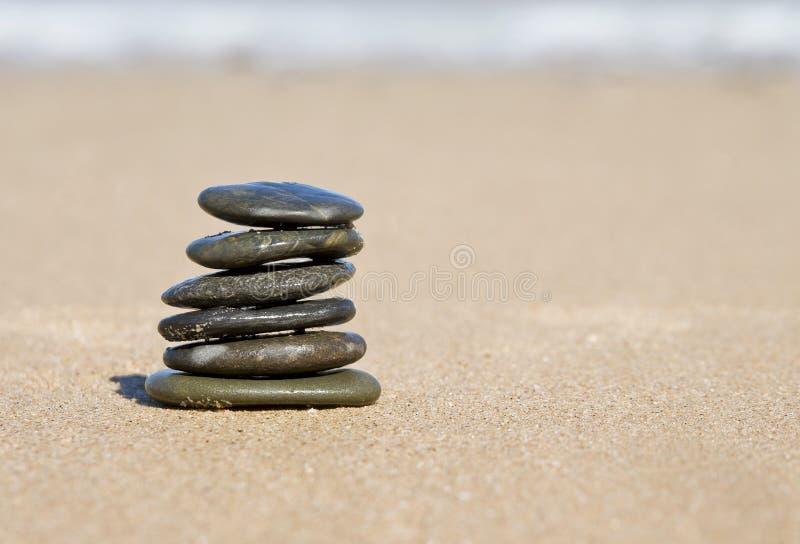 De in evenwicht brengende stenen van Nice royalty-vrije stock foto