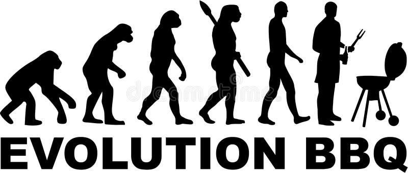 De Evolutie van de barbecuegrill stock illustratie
