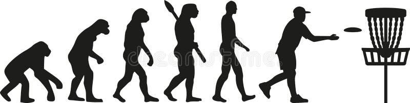 De evolutie van het schijfgolf royalty-vrije illustratie