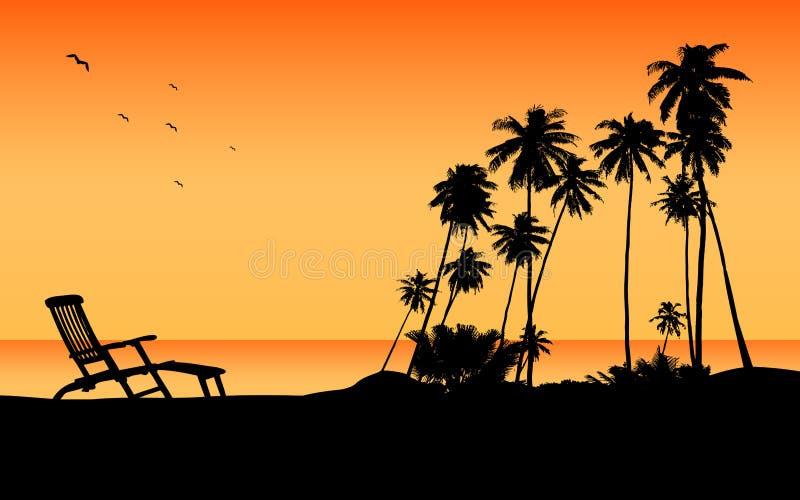 De exotische bestemming van de strandreis stock illustratie