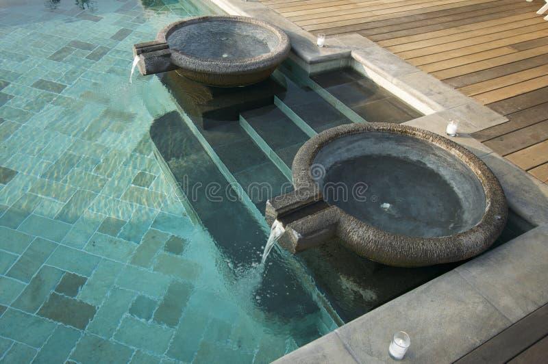 De exotische Fonteinen van de Pool stock fotografie