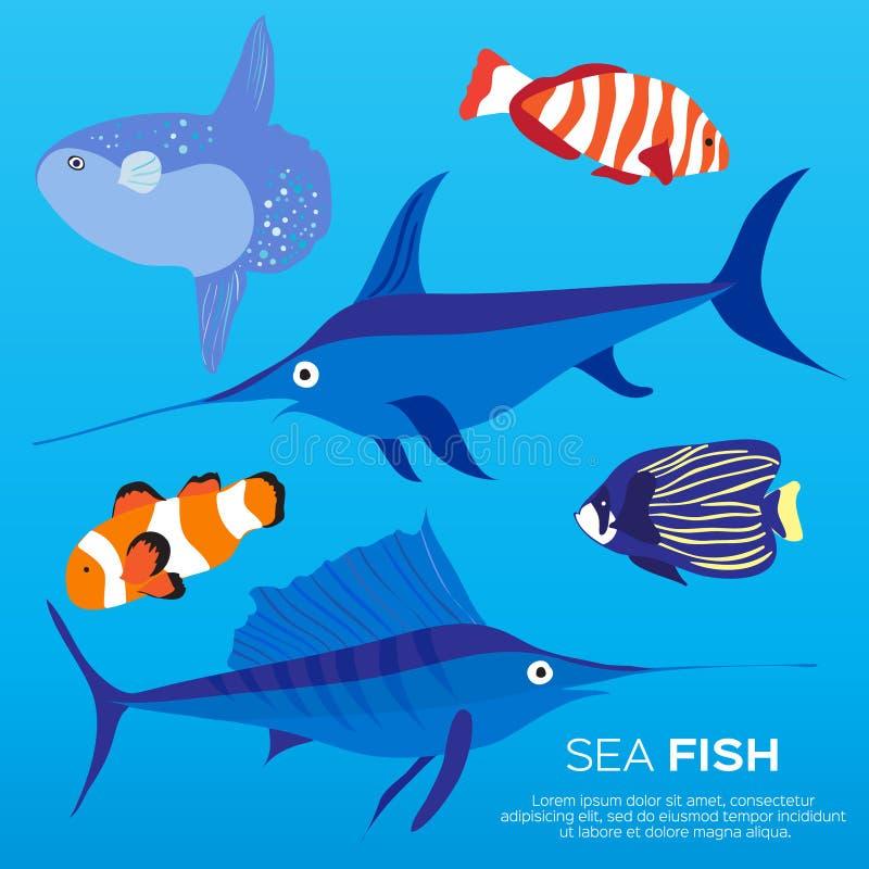 De exotische reeks van aardvissen stock illustratie