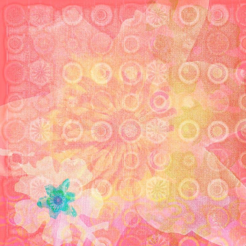 De exotische Textuur van de Bloem stock illustratie