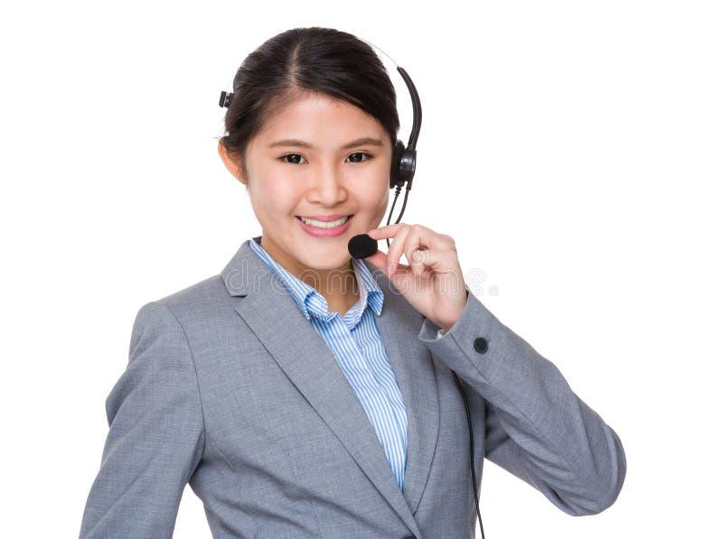De exploitant van de klantendiensten stock afbeeldingen