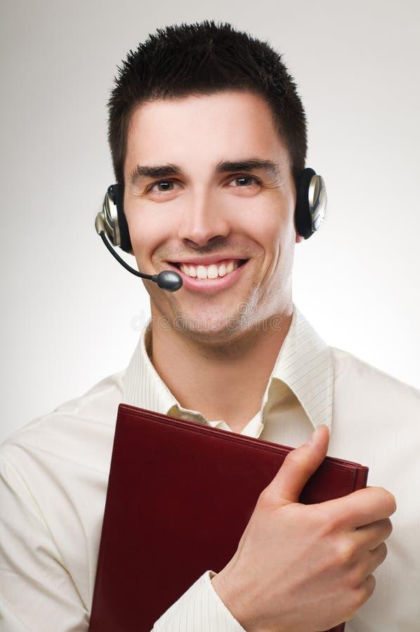 De exploitant van de telefoon stock afbeelding