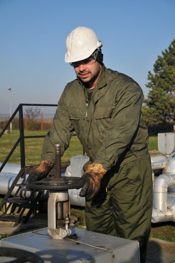De exploitant van het gas royalty-vrije stock afbeeldingen