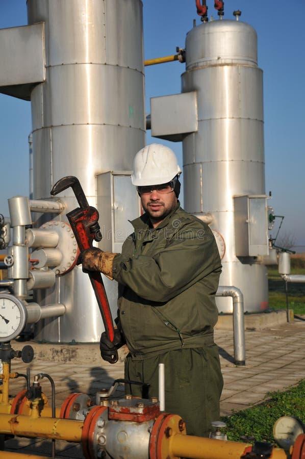 De exploitant van het gas royalty-vrije stock fotografie