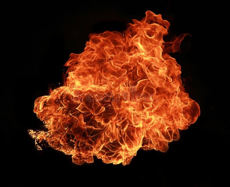 De explosie van de brand stock afbeeldingen