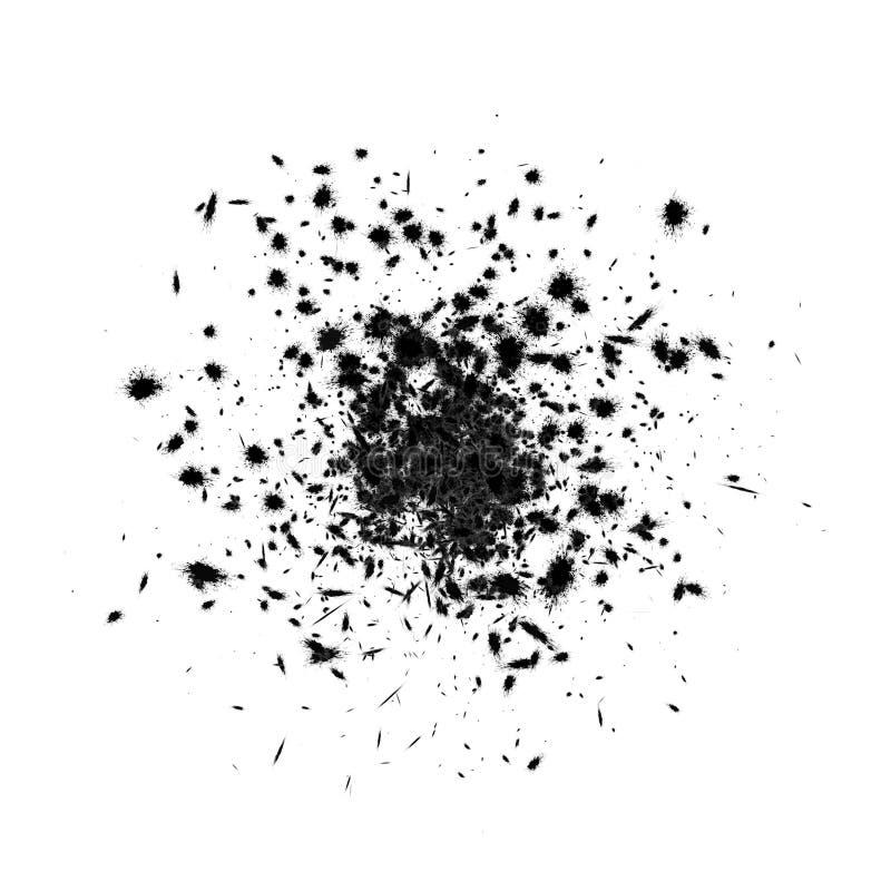 De Explosie van de inkt royalty-vrije illustratie