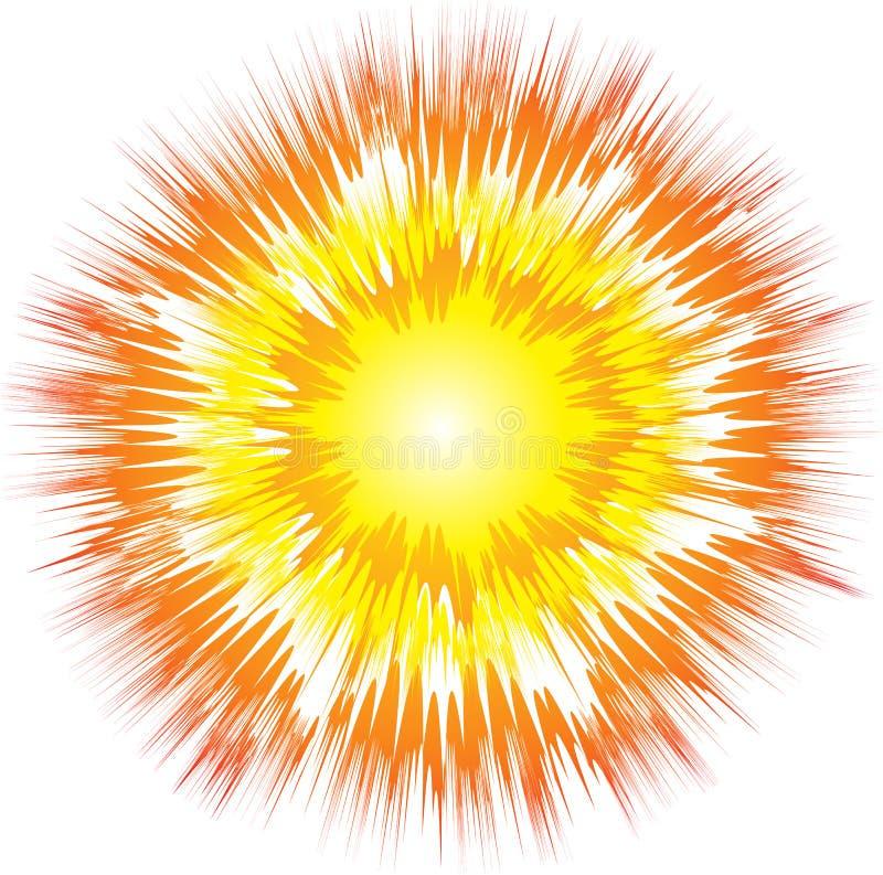 De explosie van de kunst vector illustratie