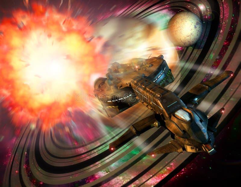 De explosie van de planeet vector illustratie