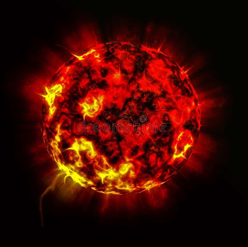 De explosie van de planeet royalty-vrije illustratie