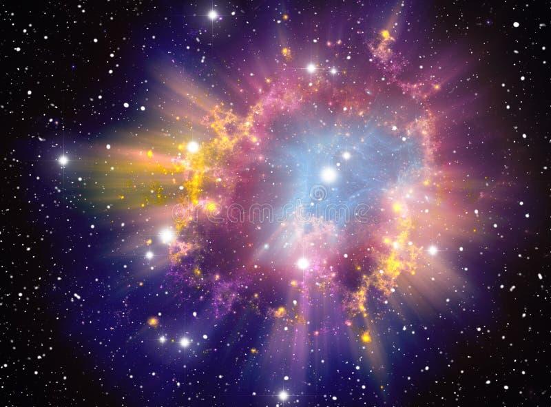De Explosie van de supernova royalty-vrije illustratie